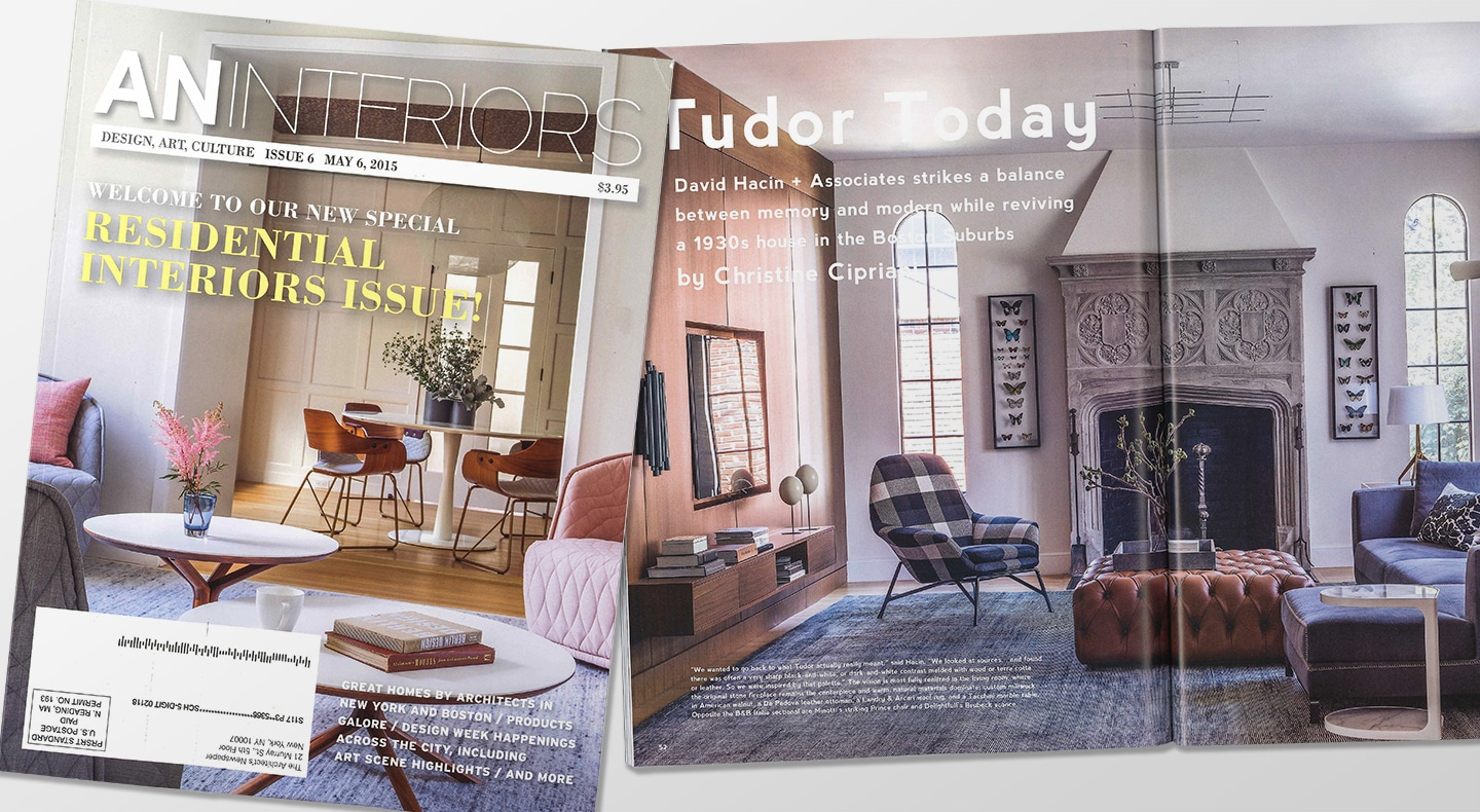 Interior Design Magazine Showcases Our Newton Tudor | Hacin + Associates