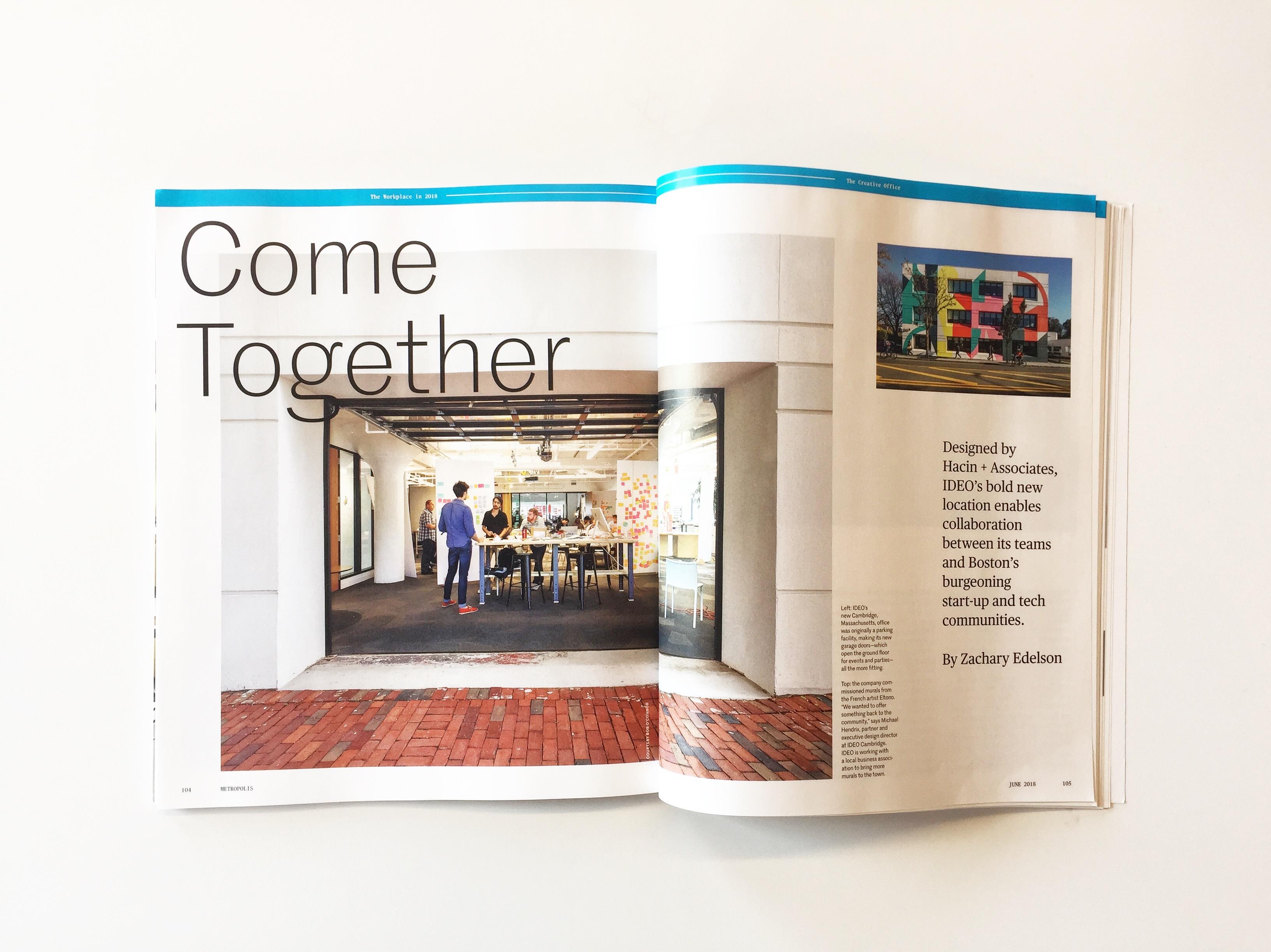 Metropolis Magazine Features IDEO Cambridge | Hacin + Associates